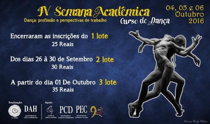 IV Semana Acadêmica do Curso de Dança de Viçosa